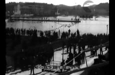 Gita di 10.000 dopolavoristi triestini a Parenzo, provincia di Pola