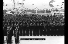 Il giuramento degli allievi della scuola C. R. E. M., 1938.