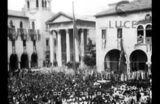 Il ministro Bottai visita la zona, 1938.